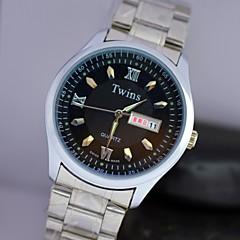 L.WEST Men's Steel Belt Of Waterproof Quartz Pointer Watch Wrist Watch Cool Watch Unique Watch