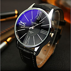 Yazole Watches Men'S Watches Symphony Blue Mirror Waterproof Quartz Business Watch Gift Idea