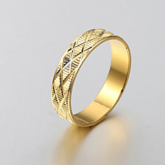 European and American fashion simple matte gold ring engraved series 8 Band Rings Wedding / Party / Daily / Casual 1pc