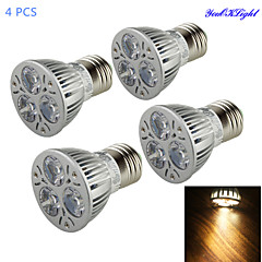 YouOKLight® 4PCS E27 3W 300lm 3000K Warm White Light Spotlight,Lampu daya tinggi dipimpin sorotan (AC 90 ~265V)