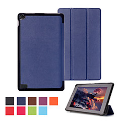 7 Inch Triple Folding Pattern High Quality PU Leather for Amazon Fire HD 7(2015)(Assorted Colors)