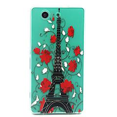 Varten Sony  kotelo Läpinäkyvä Etui Takakuori Etui Eiffelin torni Pehmeä TPU varten Sony Sony Xperia Z3 Compact
