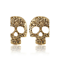 Kolczyki na sztyft Modny Osobiste Europejski Stop Skull shape Silver Brown Biżuteria Na 2pcs