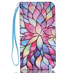 pétala pu carteira de couro caso de telefone alça de mão para Samsung Galaxy S3 / s3mi / S4 / s4mini / S5 / s5mini / S6 / S6 borda / beira