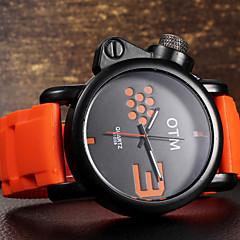 Мужской Наручные часы Кварцевый Защита от влаги силиконовый Группа бренд-