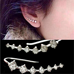 Stud Earrings Crystal Imitation Diamond AAA Cubic Zirconia Fashion Personalized Elegant Adorable Crystal Zircon Cubic Zirconia Jewelry