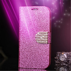 Glitter Diamond Leather Cell Phone Case Card Slot Wallet Back Cases For Galaxy S6 Edge/S6/S5/S4/S3(Assorted Color)
