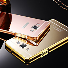 Luxury Plated Metal Frame Adds Transparent Acrylic Cover Phone Shell Case for Samsung GalaxyA3/A5/A7/A8
