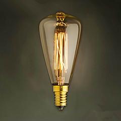 E14 40W St48 Yellow Light Bulb Edison Small Screw Cap Retro Chandelier Decorative Light Bulbs