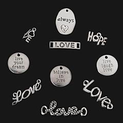 beadia plata antigua siempre&amor&esperanza&vive rie ama&creer en el amor&vivir sus colgantes del encanto sueño de