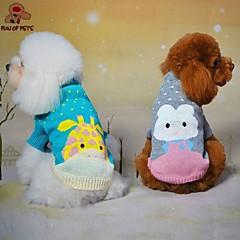 Gatos / Perros Abrigos / Suéteres Verde / Azul / Gris Ropa para Perro Invierno Lunares / Caricaturas Boda / Cosplay
