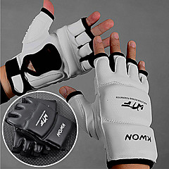 Boxing Gloves Extension Wrist Leather Half Fighting Boxing Gloves Mitts Sanda Karate Taekwondo