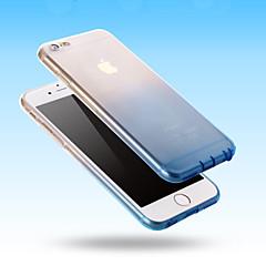 For iPhone 6 etui iPhone 6 Plus etui Ultratyndt Transparent Etui Bagcover Etui Farvegradient Blødt Silikone foriPhone 6s Plus/6 Plus