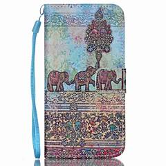 olifant pu lederen portemonnee draagriem telefoon geval voor Samsung Galaxy S3 / s3mi / S4 / s4mini / S5 / s5mini / s6 / s6 edge / s6 rand
