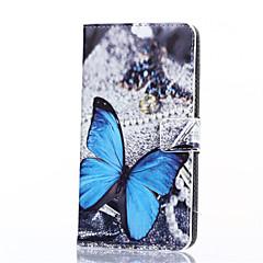 Για Samsung Galaxy Θήκη Θήκη καρτών / Πορτοφόλι / με βάση στήριξης / Ανοιγόμενη tok Πλήρης κάλυψη tok Πεταλούδα Συνθετικό δέρμα Samsung