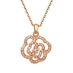 Necklace Chain Necklaces Jewelry Zircon Wedding / Party / Daily / Casual Gold 1pc Gift