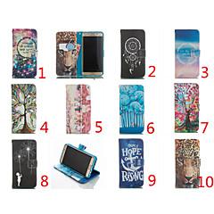 doppelseitige Cartoon-Muster Flip Lederstandplatzabdeckung Handy-Taschen Fällen für Galaxieanmerkung 5 / Anmerkung 4