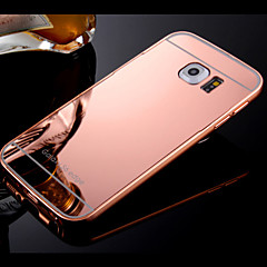 Frame and Plated Compact Mirror Backplane  Phone Case for Samsung Galaxy S4/S5/S6/S6edge/edge+ (Assorted Colors)