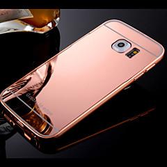 ramme og forgyldt kompakt spejl backplane telefon Taske til Samsung Galaxy S4 / S5 / S6 / s6edge / kant + (assorterede farver)