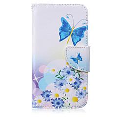 Mert Samsung Galaxy tok Pénztárca / Kártyatartó / Állvánnyal / Flip Case Teljes védelem Case Pillangó Műbőr SamsungS6 edge plus / S6 edge