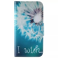 White Dandelion Painted PU Phone Case for Galaxy S6edge Plus/S6edge/S6/S5/S5mini/S4/S4mini/S3/S3mini