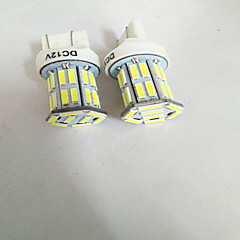 2PCS T20 7443 7020 32SMD 16W 7000-7500K StopLight  white light 12V