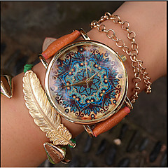 Paisley Watch, Vintage Style Leather Watch, Women Watches Fashion Boyfriend Watch Gift Boteh Hippie Revolution Cool Watches Unique Watches
