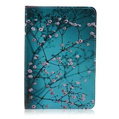 pruim patroon pu lederen full body case met standaard voor de iPad mini 3/2/1