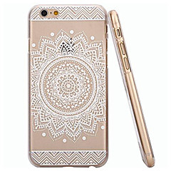 White Sunflower Style Transparent Soft TPU Back Cover for iPhone 6/6S 4.7""