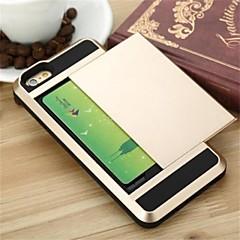 용 아이폰6케이스 / 아이폰6플러스 케이스 카드 홀더 케이스 뒷면 커버 케이스 단색 하드 PC iPhone 6s Plus/6 Plus / iPhone 6s/6