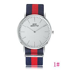 Heren / Dames / Uniseks Modieus horloge Kwarts Band Zwart / Wit / Blauw / Rood / Groen Merk-