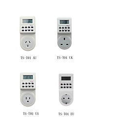 Digital LCD Electronic Plug-in Programmable Timer 12/24 Hour Switch Socket with Clock Summer Time Random Functio