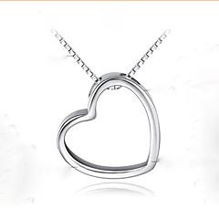 S925 Silver Pendant Silver Pendant Heart Pendant Heart-Shaped Silver Pendant