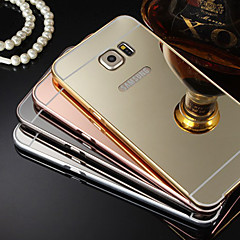 New Plating Mirror Back with Metal Frame Phone Case for Galaxy S4/S5/S6/S6 edge/S6 edge +(Assorted Colors)