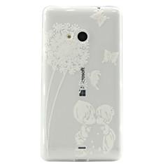 Mert Nokia tok Átlátszó Case Hátlap Case Pitypang Puha TPU Nokia Nokia Lumia 535