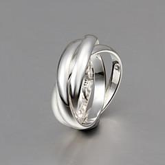 Ringer Bryllup Fest Daglig Avslappet Smykker Sølv Dame Herre Par Båndringe 1 stk,8 Sølv