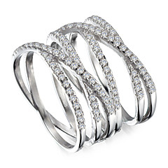 Fashion 925 Sterling Silver Cubic Zirconia Ring Casual 1pc