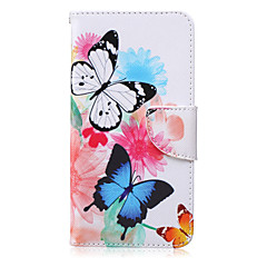 Na Samsung Galaxy Note Portfel / Etui na karty / Z podpórką / Flip Kılıf Futerał Kılıf Motyl Skóra PU Samsung Note 5 / Note 4