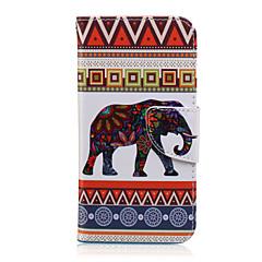 Varten Samsung Galaxy kotelo Korttikotelo / Lomapkko / Tuella / Flip / Kuvio Etui Kokonaan peittävä Etui Elefantti Tekonahka SamsungJ7 /