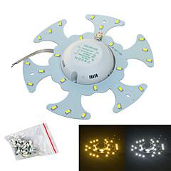 Jiawen 12w 1200lm 6500k / 3200k 24-smd5730 wit / warm wit licht bron voor plafondlamp / magnetische nagel (AC170 ~ 265V)