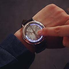 Férfi Watch Digitális Divatos óra LED / Érintőképernyő Bőr Zenekar Karóra