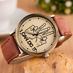 여자와 남자 레저 패션 손목 시계