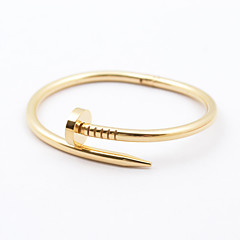 Classic Women's 316L Stainless Steel Nail Bangle Jewelry Christmas Gifts