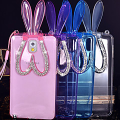 Transparent Rabbit Ears Design TPU Protective Back Cover with Stand for Samsung Galaxy Note 2/4/3/5(Assorted Colors)
