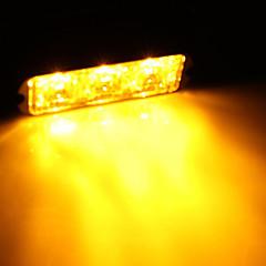 3W High Power 3 LED Waterproof Car Truck Emergency Strobe Flash Light Amber