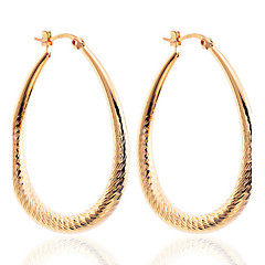 Fashion High Quality  Twisted Waterdrop Shape Hoop Earrings