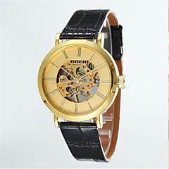 Männersache runde Zifferblatt Lederband Maschine analogen Halbautomatik-Armbanduhr (Farbe sortiert)