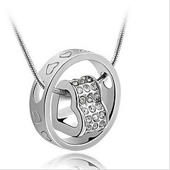 Necklace Pendant Necklaces Jewelry Daily / Casual Fashion Sterling Silver Silver 1pc Gift