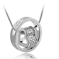 Pentru femei Pentru cupluri Coliere cu Pandativ Heart Shape Plastic La modă de Mireasă costum de bijuterii Bijuterii Pentru Nuntă Zilnic