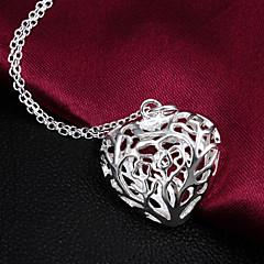 Nyakláncok Nyilatkozat nyakláncok Ékszerek Esküvő Parti Napi Hétköznapi Heart Shape Szív Ezüst Női 1db Ajándék Ezüst